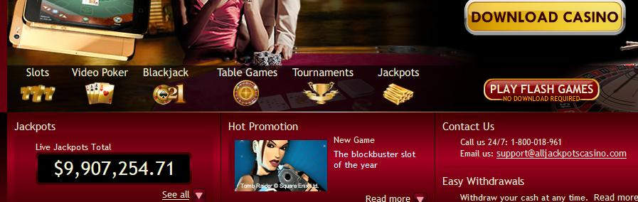 All Jackpots Casino Bonus Codes 2